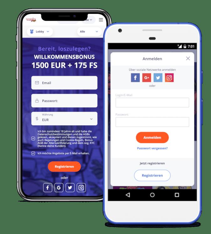 Vulkan Vegas Mobile App