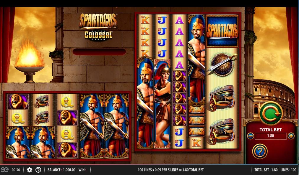 spartacus super colossal reels slot von wms